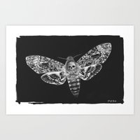 Death Moth Art Print