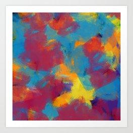 A Tropical Paradise - Abstract Art Art Print