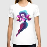 enerjax T-shirts featuring Garnet - Crystal Gems by enerjax