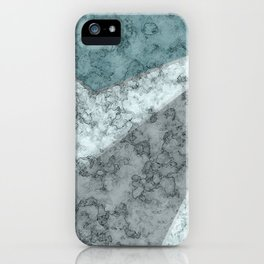 Combined abstract pattern .Green marble . iPhone Case