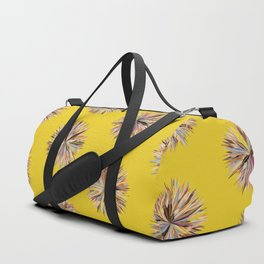 Sunset Poms on Yellow Field Duffle Bag