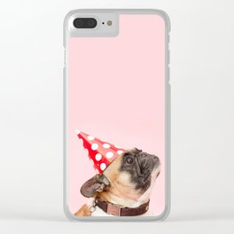 Pug Birthday Party! Clear iPhone Case