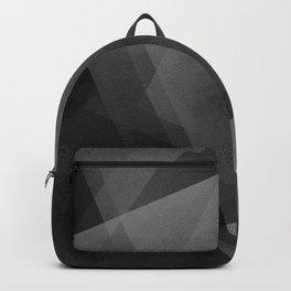 Black and Grey - Digital Geometric Texture Backpack