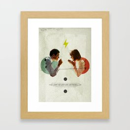 Bland   Collage Framed Art Print