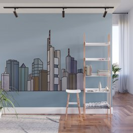 Frankfurt skyline Wall Mural