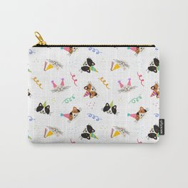 Cat Purr-tay! // White Carry-All Pouch