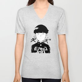 Shigeo Kageyama Black And White Unisex V-Neck