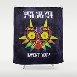 Majora's Mask Splatter (Quote) Shower Curtain