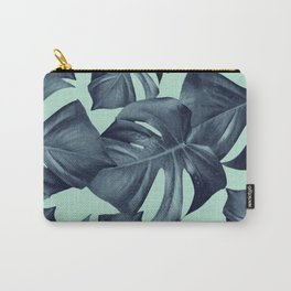 Monstera Leaves Pattern #10 #tropical #decor #art #society6 Carry-All Pouch