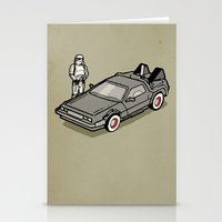 delorean Stationery Cards featuring Stormtrooper and his Delorean by Vin Zzep