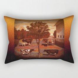 CowCurios 03 Rectangular Pillow