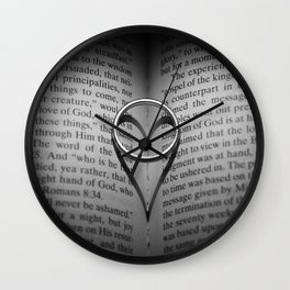 Love In The Shadows Wall Clock