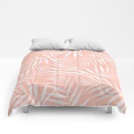 Elegant tropical white palm leaves paint Comforters