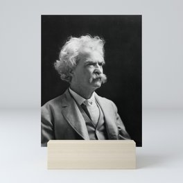 Vintage Iconic Mark Twain Black and White Mini Art Print