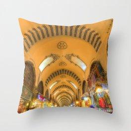 The Spice Bazaar Istanbul Throw Pillow