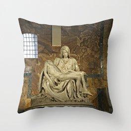 Michelangelo's Pieta in St. Peter's Basilica                                              Throw Pillow