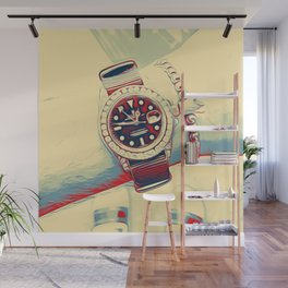 Watch matching my flip flops Wall Mural