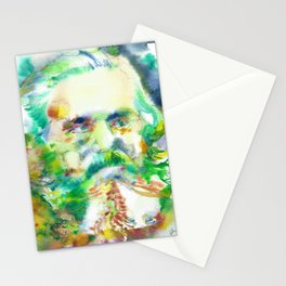 KARL MARX - watercolor portrait Stationery Cards