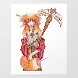 Pharmacy Fox / Pharmzie Fuchs Art Print