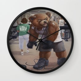 Bodybuilder Teddy Wall Clock