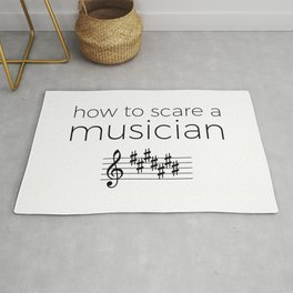 How to scare a musician Rug