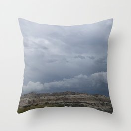 Storm over the Badlands Throw Pillow