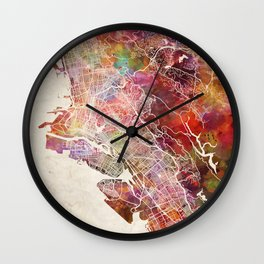 Oakland map Wall Clock
