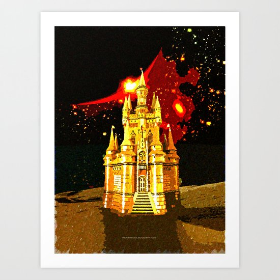 GOLDEN CASTLE-005 Art Print