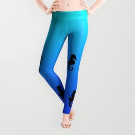Under the Sea(horse)-Light to Dark Leggings
