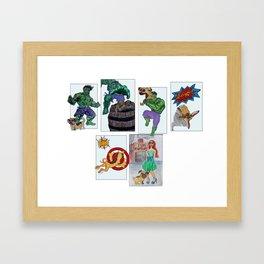 blah Framed Art Print
