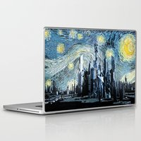 stargate Laptop & iPad Skins featuring Starry Night Over Atlantis by Jackdoc