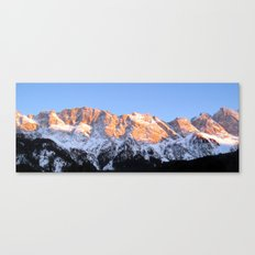 zugspitze mountain panorama II, germany. Canvas Print