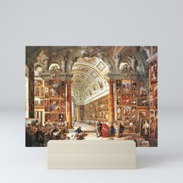 Giovanni Paolo Pannini Masterpiece Interior of a Picture Gallery with the Collection of theCardinal Mini Art Print