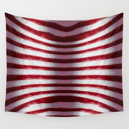 Red and White Organic Rib Cage Wall Tapestry