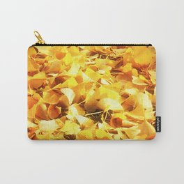 Golden Ginko Leaves Carry-All Pouch