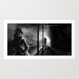 Strangers in the Alley Art Print