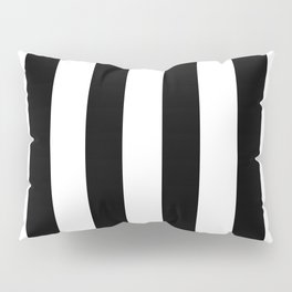 Simply Vertical Stripes in Midnight Black Pillow Sham