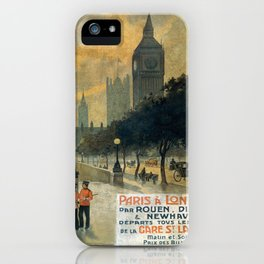 Paris a Londres, French Travel Poster iPhone Case