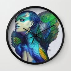 Peacock Queen Wall Clock