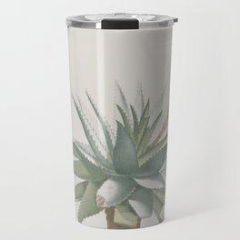 Vintage succulent aloe cactus agave antique botanical desert print boho tribal chic Travel Mug