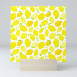 Beautiful Lemon Pattern Mini Art Print