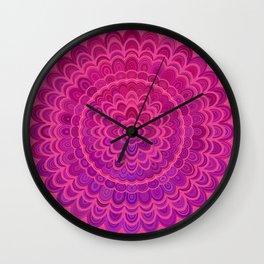 Love Mandala Wall Clock