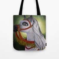 carousel Tote Bags featuring Carousel by Texnotropio