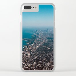 Soaring over Chicago Clear iPhone Case