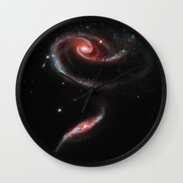Rose of Galaxies Wall Clock