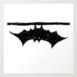 Bat friend Art Print