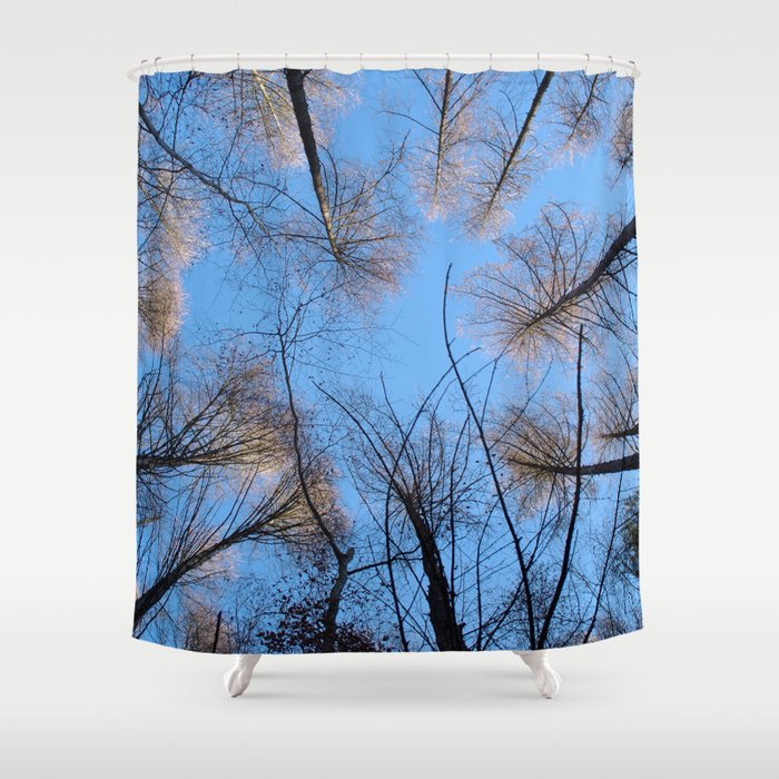 Glowing trees II Shower Curtain