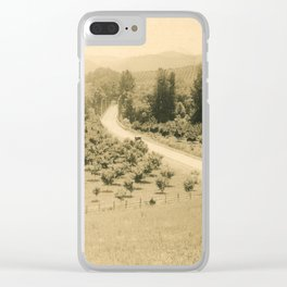 Umpqua Valley, Pacific Highway, Oregon Clear iPhone Case