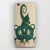 celtic iPhone & iPod Skins featuring Celtic Dragon by Erin Malbuisson-Delaney