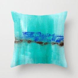 The Ocean Cries Throw Pillow
